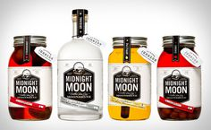 Midnight Moon Moonshine Packaging, by Shane Cranford Creative #inspiration #creative #packaging #design #graphic