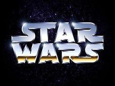 Star Wars Chrome Logo #wars #force #the #star #chrome #typography