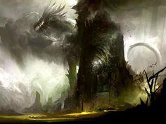 Temple w/ dragon