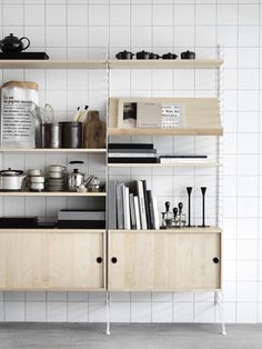The String System #interior #shelving
