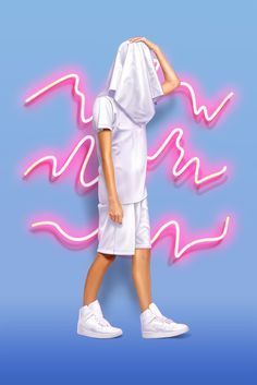 Vasya Kolotusha #woman #girl #illustration #fashion #neon