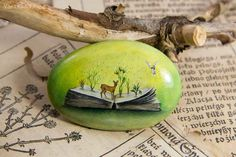 Miniature Oil Paintings on Stones by Yana Khachikyan