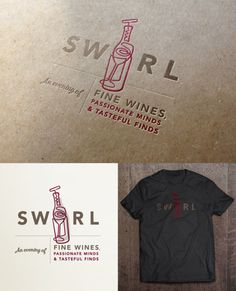 personal, logo, wine, bottle, glass, corkscrew, swirl, event, shirt