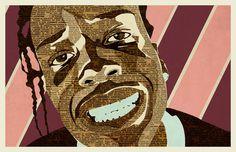 A$AP Rocky | Illustration | KyleMosher.com #asap #newspaper #illustration #rapper #vintage #rocky #musician