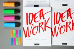 IDEA WORK on Behance #snhetta #print #design #idea #type #work