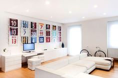 Mauro Soddu designed this bright living room for a soccer player