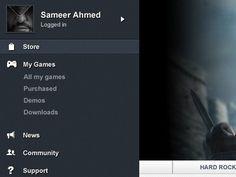 Dribbble - Mac App UI by Sameer Ahmed #dropdown