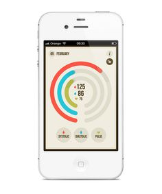 BloodNote mobile app on the Behance Network #inspiration