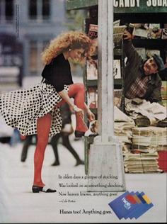 1988 HANES PANTYHOSE HOSIERY : Newspaper's Stand Magazine PRINT AD | eBay