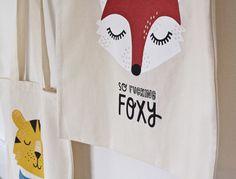 #nordic #design #graphic #illustration #danish #bright #simple #nordicliving #living #interior #kids #room #tote #bag #foxy #fox