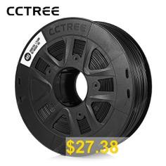 CCTREE #ABS #Printer #Filament #Silk #1.75mm 1kg #Spool #Dimensional #Accuracy #+/- #0.05mm #- #BLACK