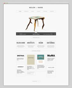 Helen & Hard #website #layout #architecture #web