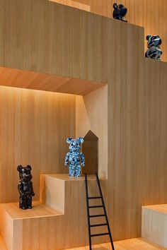 Interior of the house for toy bears #bears #toys #house #modern #teddy #art #bear