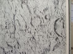 Map of the Moon #print #map #moon