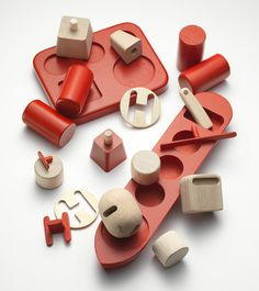 Wooden Toys by Permafrost #design #wood #red #product #toys #norway