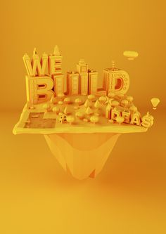 WE.type #cinema4d #poly #poster #low #3d #typography