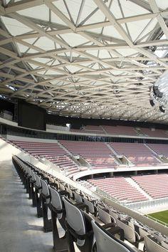 "CJWHO â""¢ (Willmote Allianz Rivera, Aspremont, France by...) #france #design #stadium #soccer #aspremont #architecture"