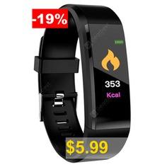 ID115 #Plus #0.96 #inch #Smart #Bracelet #- #BLACK