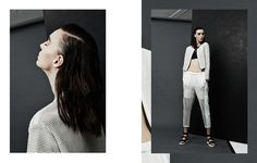 High Contrast Editorial SSENSE #fashion #art direction #ssense