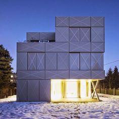 Villa Criss-Cross Envelope by OFIS Arhitekti #interior #design #architecture