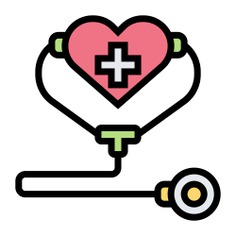 See more icon inspiration related to health, heart, shapes and symbols, healthcare and medical, health care, stethoscope, hospital and medical on Flaticon.