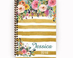 flower pattern, calendar, gold