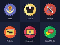 Such a great set of colourful #icons that can be used for business related websites or applications.