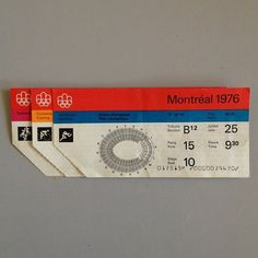 76 Montreal Olympics tickets. Identity by Georges Huel + Pierre-Yves Pelletier. #montreal #vintage #1970s #olympics #ephemera