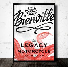 Eight Hour Day » Bienville Identity #red #print #snake #poster #type