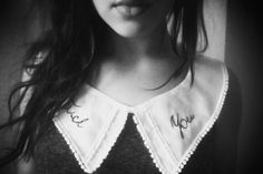 Photography. / Fuck You. (© CLYDE FUNTONA) #collar #white #fuck #funtona #you #col #pinterest #broderie #black #photography #and #clyde