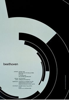 Beethoven – 1955 | Flickr - Photo Sharing! #swiss #design #graphic #poster #mller #josef #brockmann