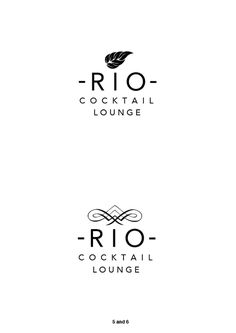 rio cocktail lounge #branding #great #bestblack #vintage #logo #lounge #cocktail