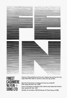 ken garland & associates:graphic design:w fein & sons #logo #illustration #logotype #typography