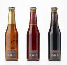 Coffee Beer bottle stickers by Nendo
