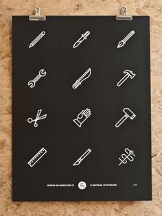 Tim Boelaars — Tools (€35.00) - Svpply #stools #graphic #icons #poster