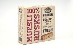 100% Muesli Rusks Packaging on the Behance Network