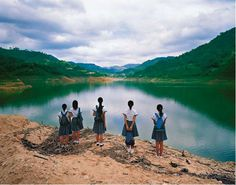 Photographs of Schoolgirls in Landscapes by Weng Fen | Art Sponge #weng #fen #conceptual #landscape #photography #schoolgirl