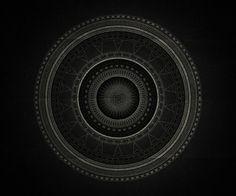 Inner space on Behance #branco #mandala #white #black #and #e #preto