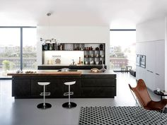 Concrete Kitchen at Cologne Furniture Fair sophisticated minimalist design kitchen #kitchen #concrete #design #modern