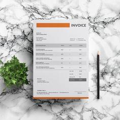 Modern Invoice Template | Freelancer Invoice | Photographer Invoice | MS Word Invoice | Elegant Invoice | Professional Invoice Template