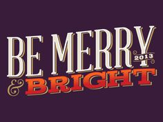 betype:be merry (by One Little Bird Studio) #typo