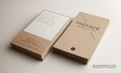 RockDesign.com | High End Business Cards | Brown Kraft Business Card #identity