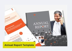 Annual Report & Brochure Template by Templatepickup