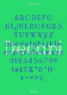 Neal Fletcher — Portfolio #specimen #design #decani #art #deco #poster #type #typography