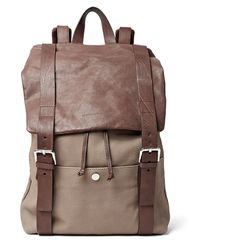 BRUNELLO CUCINELLI Full-Grain Nubuck And Leather Backpack