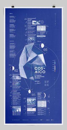 Cxc3xb3smico_ on Behance #blue #print #poster