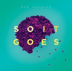 So It Goes Album Artwork by Ashwin Kandan #typography #colour #leaves #album #cover #shwin