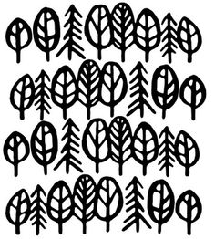 pattern in black and white #white #pattern #black #trees #leaves