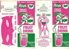 All sizes | Old Batman Fruit Drink Carton | Flickr - Photo Sharing! #logo #illustration #retro #vintage