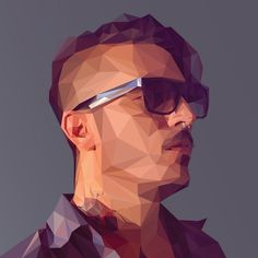 Adobe Illustrator & Photoshop tutorial: Create a low-poly portrait – Digital Arts #illustration #portrait #low poly art